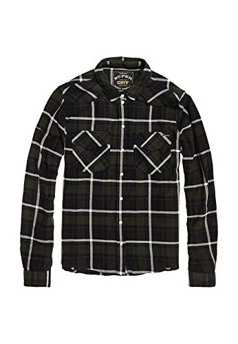 Superdry Hemd Damen Bailey Western Check Shirt Green Check, Größe:S