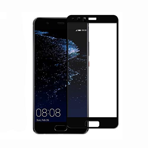 Movilrey Protector para Huawei P10 Lite Negro Completo 3D Cristal Templado de...