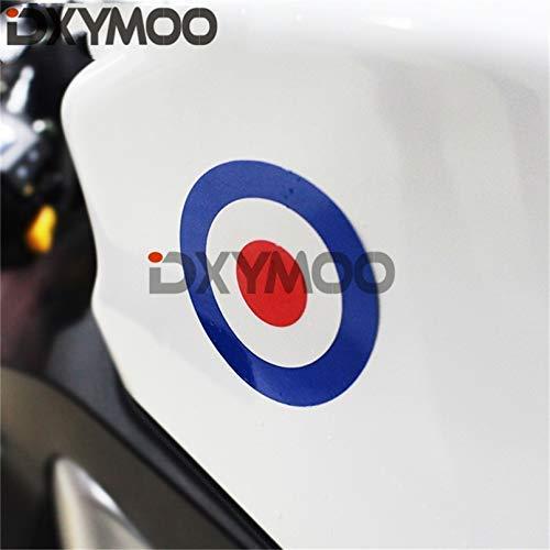 1 STKS Motorfiets Vinyl Italië Cirkel Kleur Veranderende Auto Raam Sticker Voor Piaggio Stad, 100x100mm Auto Sticker 100x100mm