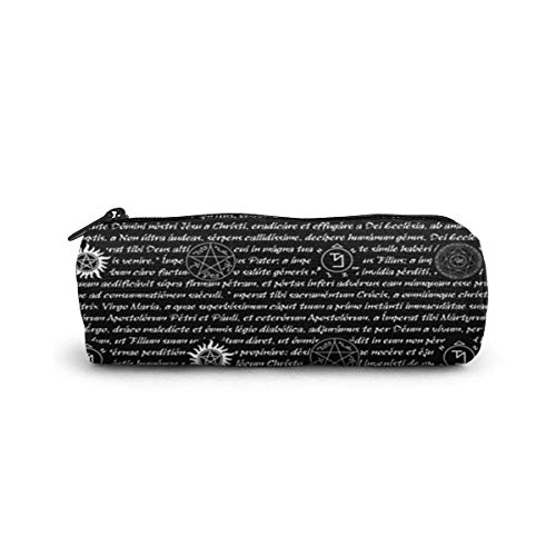 IOPLK Oficina y papelería Bolígrafos, lápices y útiles de escritura Estuches Pencil Case/Cosmetic Bag,3D Snake Wallpaper Canvas Stationery Stylish Simple Pencil Bag