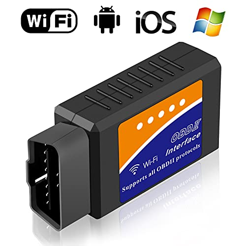 LJPXHHU Car WiFi OBD2 Scanner Engine Fault Code Reader Reset Adapter for iPhone iOS Android Windows,Auto Check Engine Light Clear OBDII ODB2 Diagnostic Scan Tool