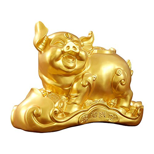ZAKRLYB Piggy Bank para niños Resina Escritorio TV Gabinete Gabinete Piggy Bank Niños Adulto Moneda Moneda Billete Banco Banco Adecuado para Sala de Estar Dormitorio Habitación Infantil Decoración de