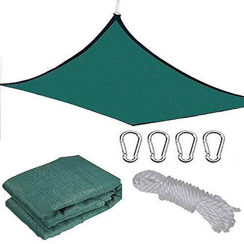 Sunshades Depot, toldo de Vela Cuadrado para sombrilla, 98% de Bloqueo UV, Patio, jardín al Aire Libre con Kit de Hardware,3.6 * 4.8M