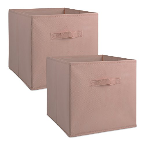 DII Fabric Storage Bins for Nursery Offices Home Organization Containers Are Made To Fit Standard Cube Organizers11x11x11 Pink - Set of 2