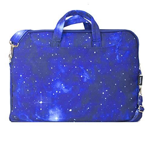 TaylorHe strapazierfähig Laptoptasche Notebooktasche aus Polycanvas, mit Seitentaschen und abnehmbarem Riemen, Universum, Sterne, Blau
