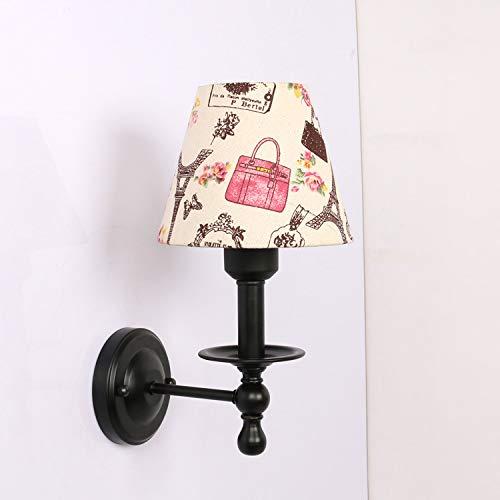 Modernes Wandbeleuchtung Wandleuchten Vintage Loft-Wandlampen Wandbeleuchtung Europäische Nachttischlampe,Wandlampe,Frische Luft,Idyllische Mediterrane Nachttischlampe,Warmes Licht,Löwenzahn 1