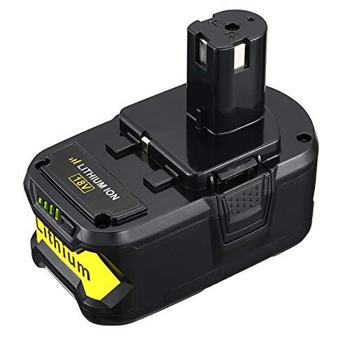 Miady 5.0Ah 18V Replacement Battery Compatible with Ryobi P102 P103 P104 P105 P107 P108 P109 P122 Ryobi ONE Plus Cordless Power Tool