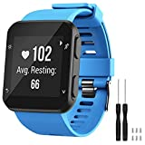 GVFM Band Compatible with Garmin Forerunner 35, Soft Silicone Replacement Watch Band Strap for Garmin Forerunner 35 Smart Watch, Fit 5.11-9.05 Inch (130-230 mm) Wrist (Sky Blue (Black buckle))