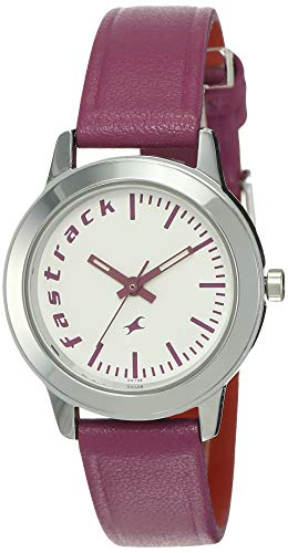 Fastrack Fundamentals Analog White Dial Women's Watch - 68008SL01