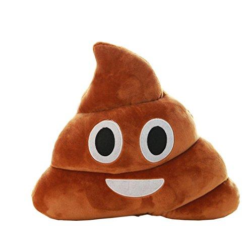 STRIR Emoji Emoticono Cojín Almohada Redonda Emoticon Peluche Bordado Sonriente 14*10*4.5cm/5.5*4*1.8''/(L*H*W)
