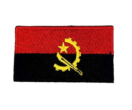Angola nationale land vlag ijzer naaien op geborduurde patch