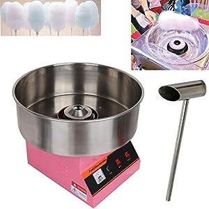 TryESeller 1300W Máquina de Algodón de Azúcar Comercial de Acero Inoxidable Cotton Candy Machine