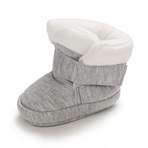 MASOCIO Zapatos Botas Bebe Niño Niña Invierno Botines Botitas Bebé Recién Nacido Primeros Pasos Zapatillas Casa Gris Talla 18 0-6 Meses