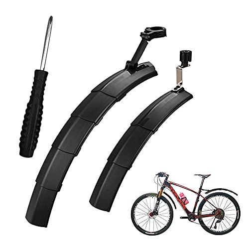 YeenGreen Fahrrad Schutzblech Set, Schutzbleche Mountainbike, Verstellbares Schutzbleche Mountainbike Vorne und Hinten Kotflügel für 17-28 Zoll MTB und Rennrad