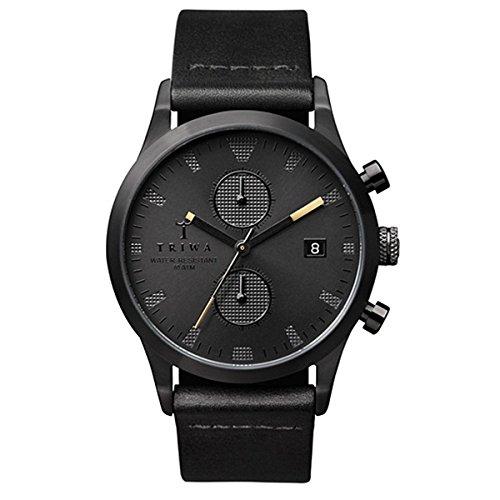 [トリワ]TRIWA メンズ レディース ユニセックス ランセンクロノ クロノグラフ ブラック レザー LCST105-CL010113 腕時計 [並行輸入品]