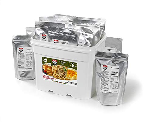 Ready Supply Foods Variety Bucket,25.2 lbs of Freeze Dried Food Storage, Camping, Hiking, Survival, Emergency Food Supply, Up to 25 Year Shelf Life,140 Servings,43,280 Total Calories