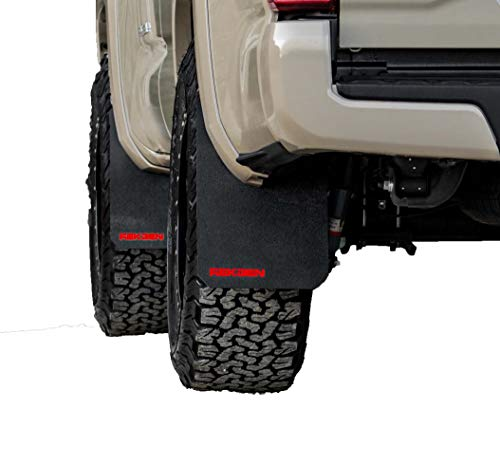 REK GEN Mud Flaps Compatible w/Tacoma Gen3 (2016+) (Stock, Red)