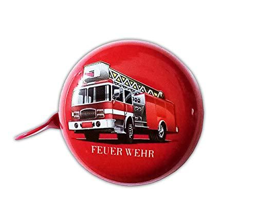 Anik-Shop FAHRRADGLOCKE Polizei Feuerwehr für Kinder Fahrradklingel Fahrrad Klingel Glocke (Feuerwehr-Rot)