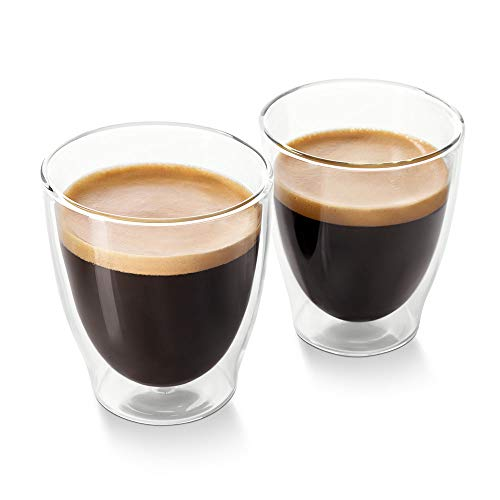 Tchibo Cafissimo Caffè Crema Gläser, doppelwandiges Thermoglas 2er Set