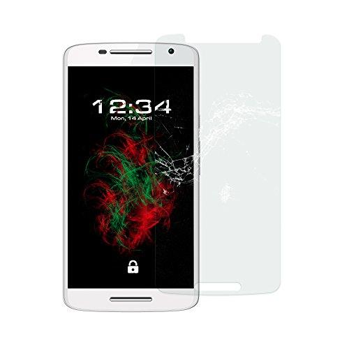 Baluum 1x Panzerglas für Motorola Moto X Play Klare Bildschirmschutzfolie 9H Echt-Glasfolie Clear Tempered Glass Screen Protector Glas Durchsichtige Schutzfolie für Ihr Moto X Play (Glasfolie-Klar 1x)