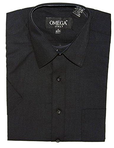 Omega Herren Freizeit-Hemd Gr. XL, schwarz