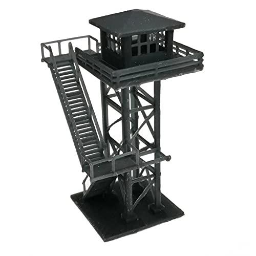 HIUHIU Model Large Watchtower Gray/Black N Scale 1:160,Black