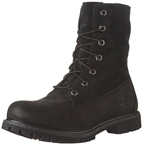 Hot Sale Timberland Women's Teddy Fleece Fold Down WP Ankle Boot,Black,6.5 M US