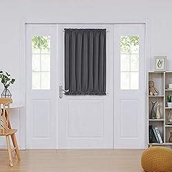 powerful Deconovo Door Curtain Insulation Blackout Curtain Door Window Curtain 54 x 40 inches…
