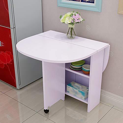 Klaptafel, vloerstandaard, bureau, keuken, eettafel, schaalbare ronde tafel, kastcombinatie, lak, computertafel, beweegbare klaptafel, 120 x 80 x 75 cm (kleur: A) D