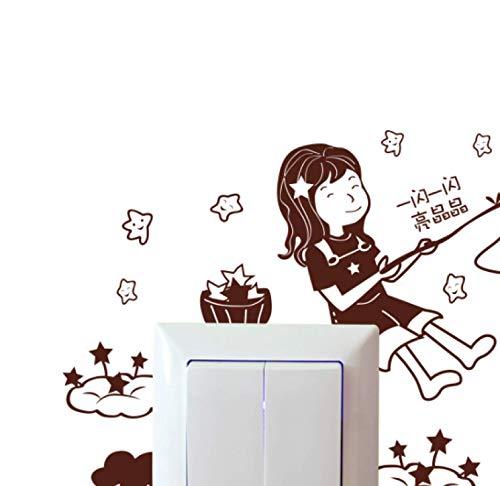 Etiqueta engomada del interruptor Baño Cocina Dormitorio Sala de estar Etiqueta engomada del enchufe Etiqueta de la pared Etiqueta de la pared 16 * 14Cm