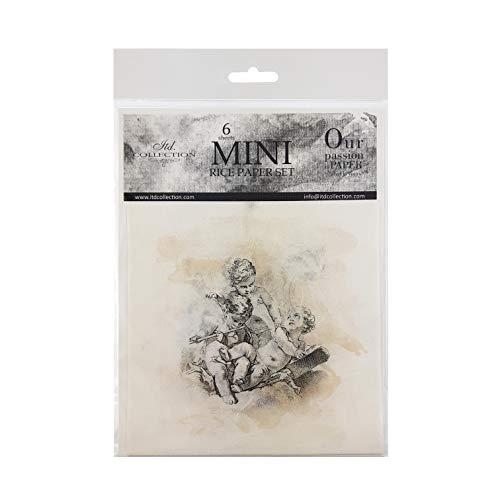 ITD Collection - Mini Carta di Riso Set Creativo 14,8 x 14,8 cm (6 Fogli), Carte di Riso Decoupage per Scrapbooking e Craft, Multicolore. (RSM010)