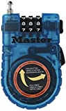 Master Lock 4603D/4605D Retractable Cable Lock, Contains Only One Lock, Colors May Vary