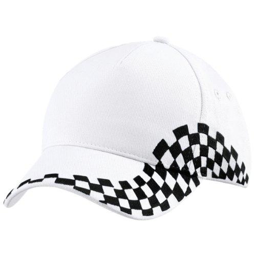 Beechfield - Casquette Grand Prix 100% coton - Adulte unisexe (Taille unique) (Blanc)