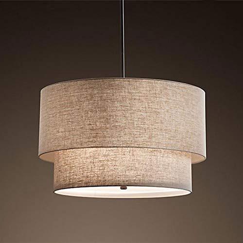 lampadario camera da letto tessuto Firwood Pendant Light American Style Doppio Lino Hanging Montaggio Luce