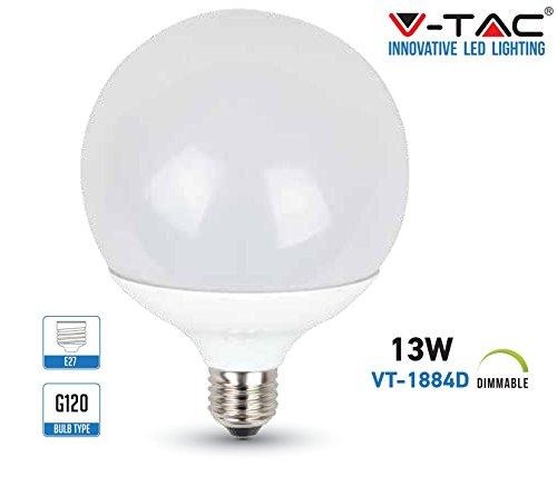 LED-lamp E27 13W G120 SMD GLOBO DIMMERLICHT NATURALE 4000K VT-1884D 7194