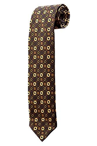 Cravate marron à motifs psychédéliques DESIGN costume homme mariage cérémonie