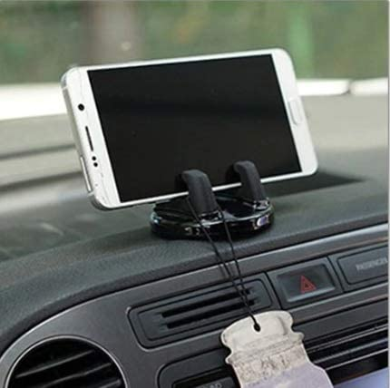Car Cell Phone Dashboard Mounted Holder 360 Degrees Swivel Mounting Kit (Pink)