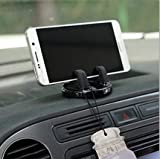 TRUE LINE Automotive Car Cell Phone Dashboard Mounted Holder 360 Degrees Swivel Mounting Kit (Silver)