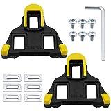 DXLing 1 par Tacos de Bicicleta Tacos para pedales de bicicleta con bloqueo automátic Calas para Bicicleta de Carretera Ciclismo Pedales Tacos de Pedal de Ciclismo Pedales de ciclismo autobloqueante