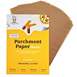 Katbite Unbleached Parchment Paper Sheets 200 Counts, 9x13 Inch 45GSM Heavy-Duty Parchment Sheets for baking cookies, Cooking, Grilling, Frying