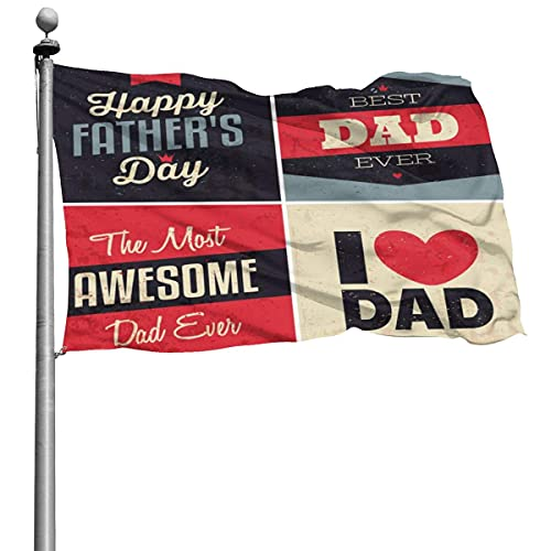 Bandera del día del padre 4x6 pies Bandera decorativa al aire libre Bandera estándar colgante exterior para patio Jardín Césped Vacaciones