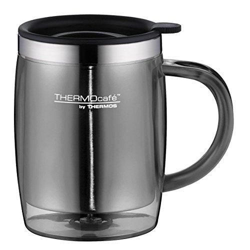 ThermoCafé Kaffeetasse Desktop Mug 350ml, Thermotasse mit Deckel 4059.235.035 Bürotasse Kunststoff grau, passt direkt unter Kaffeevollautomaten, BPA-Free, für Kaffee o. Tee, hält Getränke länger warm