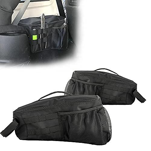 SUNPIE 2007-2018 JKU 4 Doors Trunk Organizer Black Storage Bag Accessories Made Exclusively for 2007-2018 Jeep Wrangler JKU 4 Doors(NOT for 2 Doors)