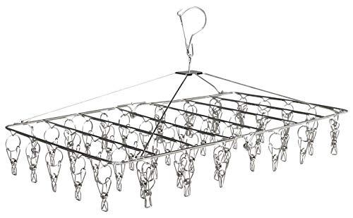 洗濯ハンガー, ピンチハンガー ステンレス 洗濯 物干し ハンガー 52個ピンチ 10個予備ピンチ付き 360度回転式 , CMUZI-GJ1