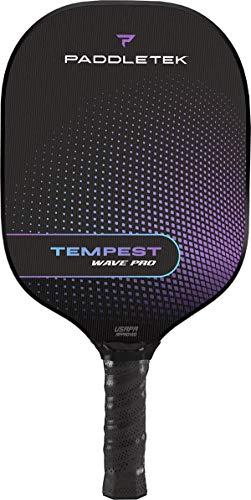 Paddletek Tempest Wave Pro Pickleball Paddle | Standard Grip | Aurora (Purple)