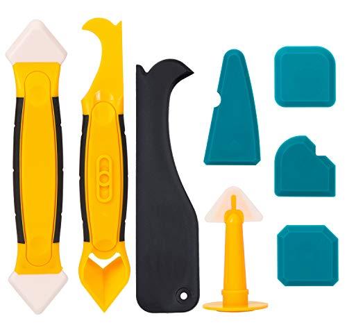 Silikonentferner 8 Stück Silikon Fugenkratzer, Silikon Fugenwerkzeug Silikonfugen Entfernen Werkzeug
