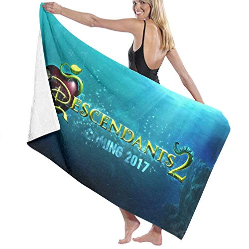 Descendants Toalla de baño para niños, súper absorbente, de secado rápido, toallas de playa, para gimnasio, camping, piscina, baño, 81,5 x 127 cm