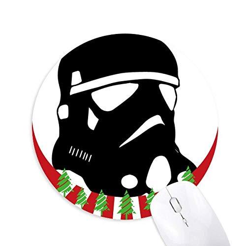 Sternenkriege Verschmutzung Gasmaske Rund Gummi Maus Pad Weihnachtsdekoration