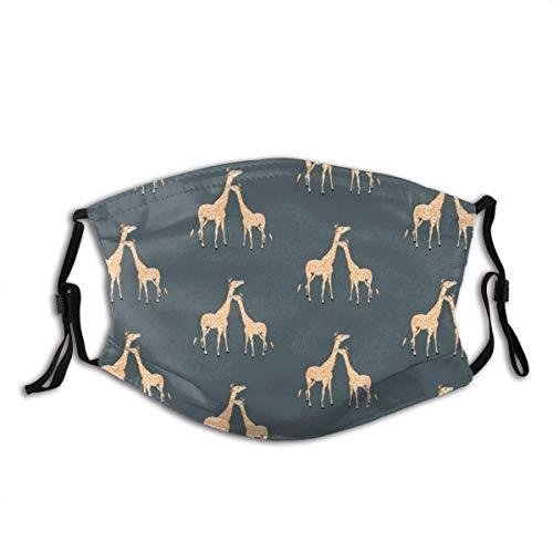 KINGAM Mscara de tela reutilizable unisex para cubrir la cara, con diseo de jirafas, para verano, al aire libre, compras, deporte