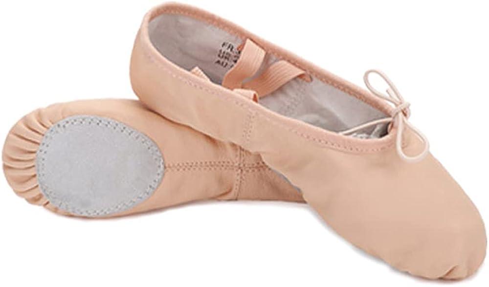 Ballet Slippers for Girls Leather Full Sole Ballet Dance Shoe (Toddler/Little Kid)